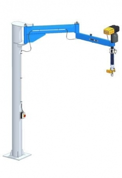 Articulated Slewing Pillar Crane GSD-TR Steel Pipe Profile