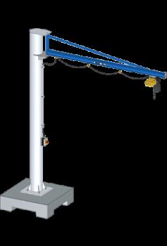 Mobile Slewing Jib Crane