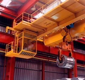 Steel industry cranes