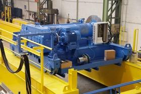 Open winch for cranes