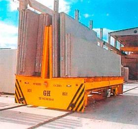 Transportavimo vagonėliai ant bėgelių (su akumuliatoriumi) kranams
