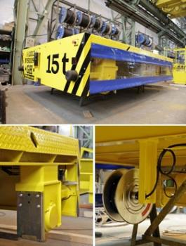 Transfer Carts on Rails (Cable Reel Powered) for cranes